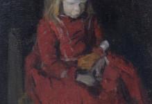 Meisje in een rode jurk, Larense school
