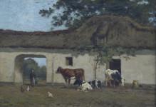 Koeien schilderij