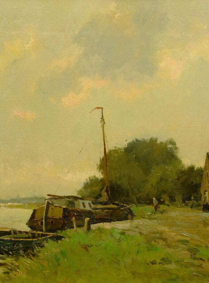 riviergezicht met boot Jongsma