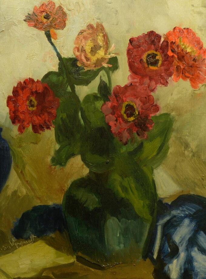 stilleven met bloemen Bergense school