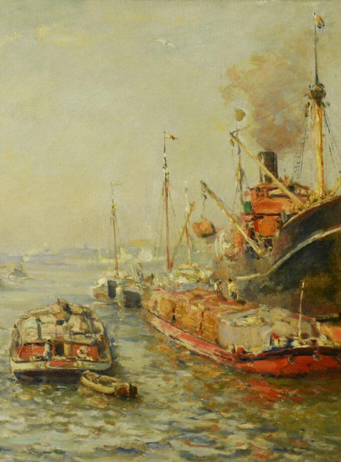 schepen op de Maas Evert Moll