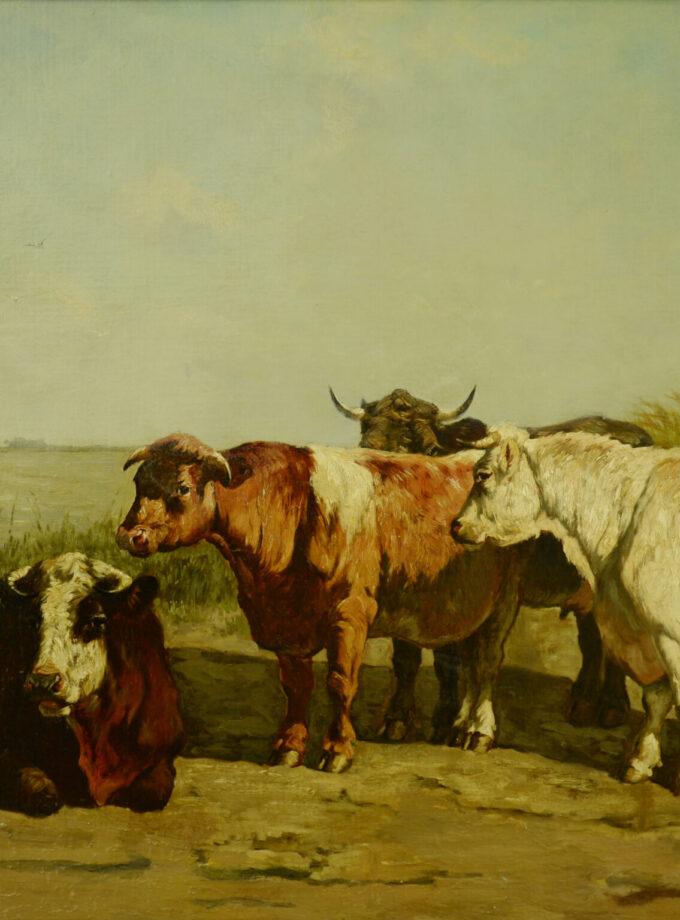 Koeien in een landschap Marcke, Emile de Lummen van
