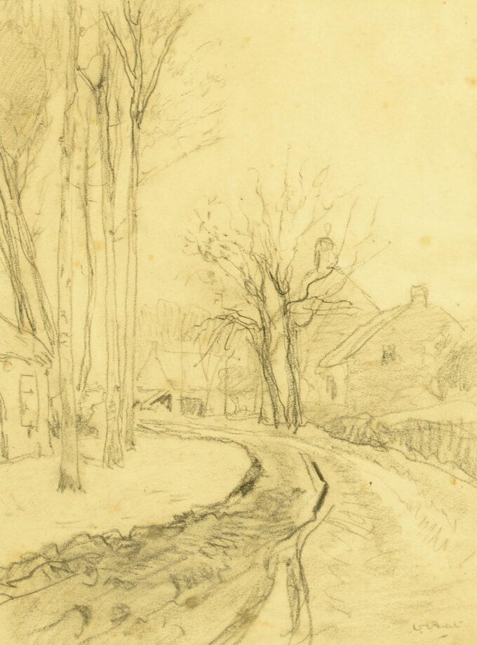 Willem Hendrik van der Nat, zandweg bij boerderij