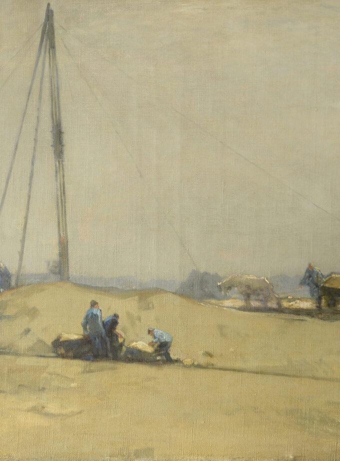 schilderij bouwwerkzaamheden
