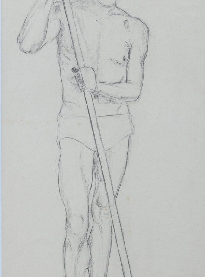 portret staande man