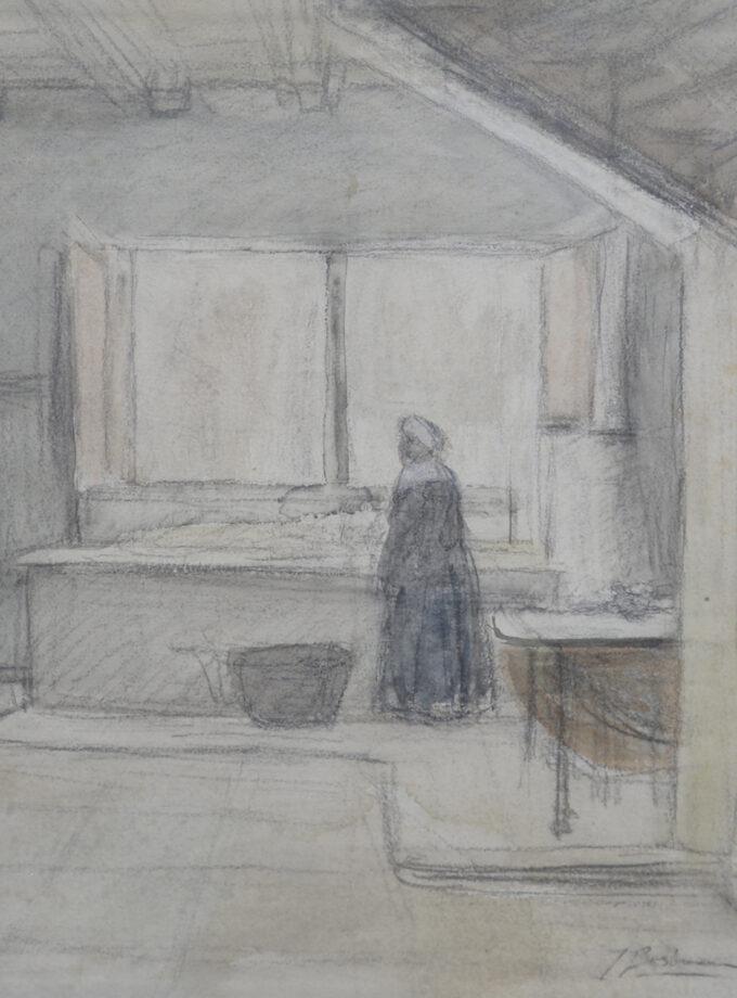 vrouw in interieur